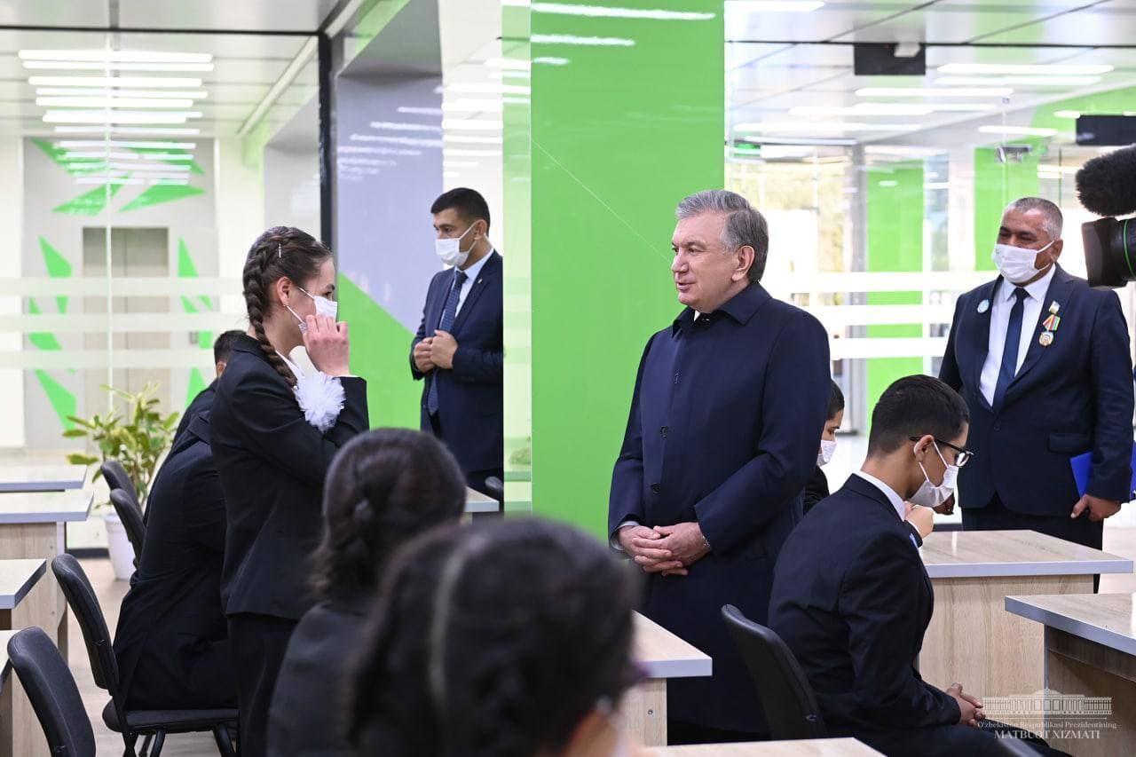 Президент посмотрел на Международную математическую школу в Каракульском районе