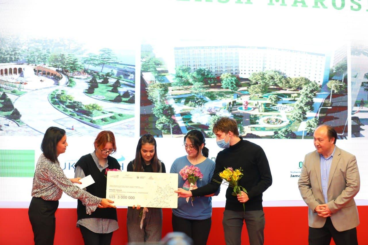 «Юксалиш» наградило победителей конкурса по возрождению площади Аль-Хорезми