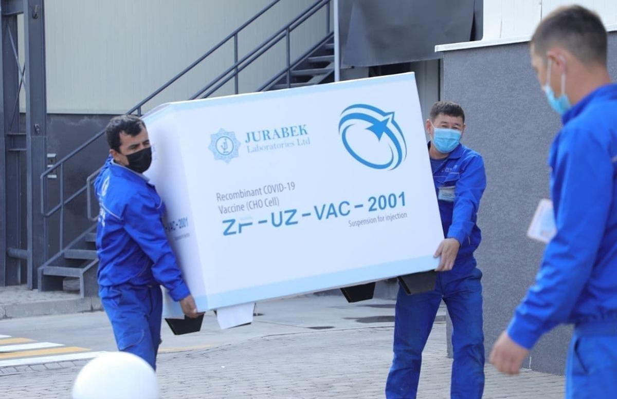 Минздрав Узбекистана получил вторую партию ZF-UZ-VAC2001 местного производства