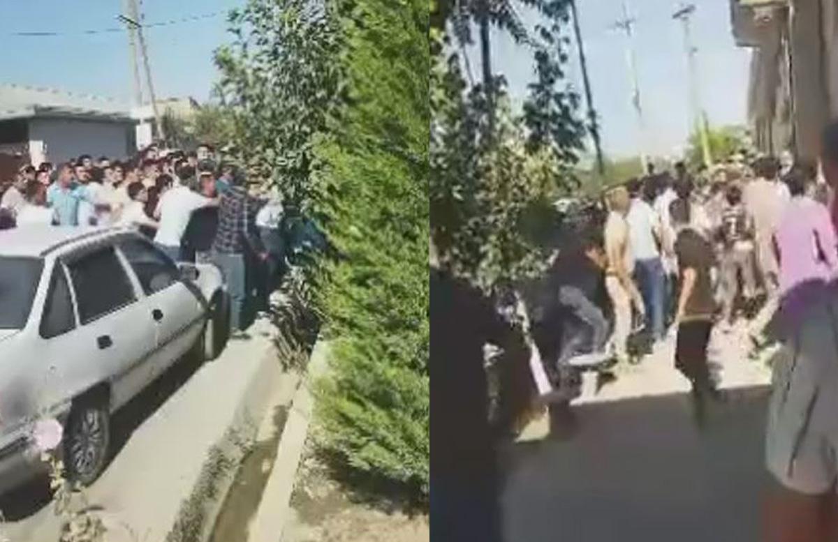 В Самарканде толпа людей захотела учинить самосуд над мужчиной у его дома — видео