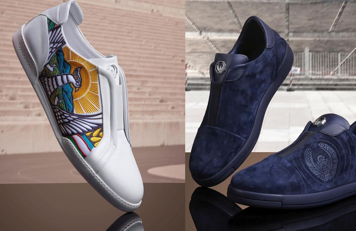 Дизайнер Стефано Риччи представил коллекцию обуви с изображением герба Узбекистана