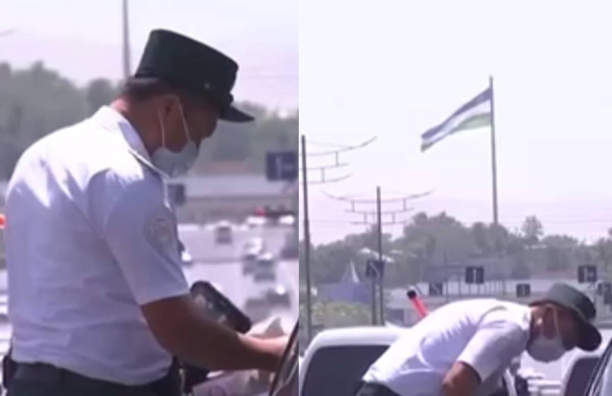 «Пожелай доброго пути и отпусти», — инспектор ДПС не выписал штраф и отпустил водителя — видео