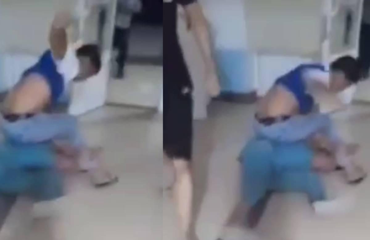 В поликлинике Намангана разъяренный мужчина набросился на врача — видео