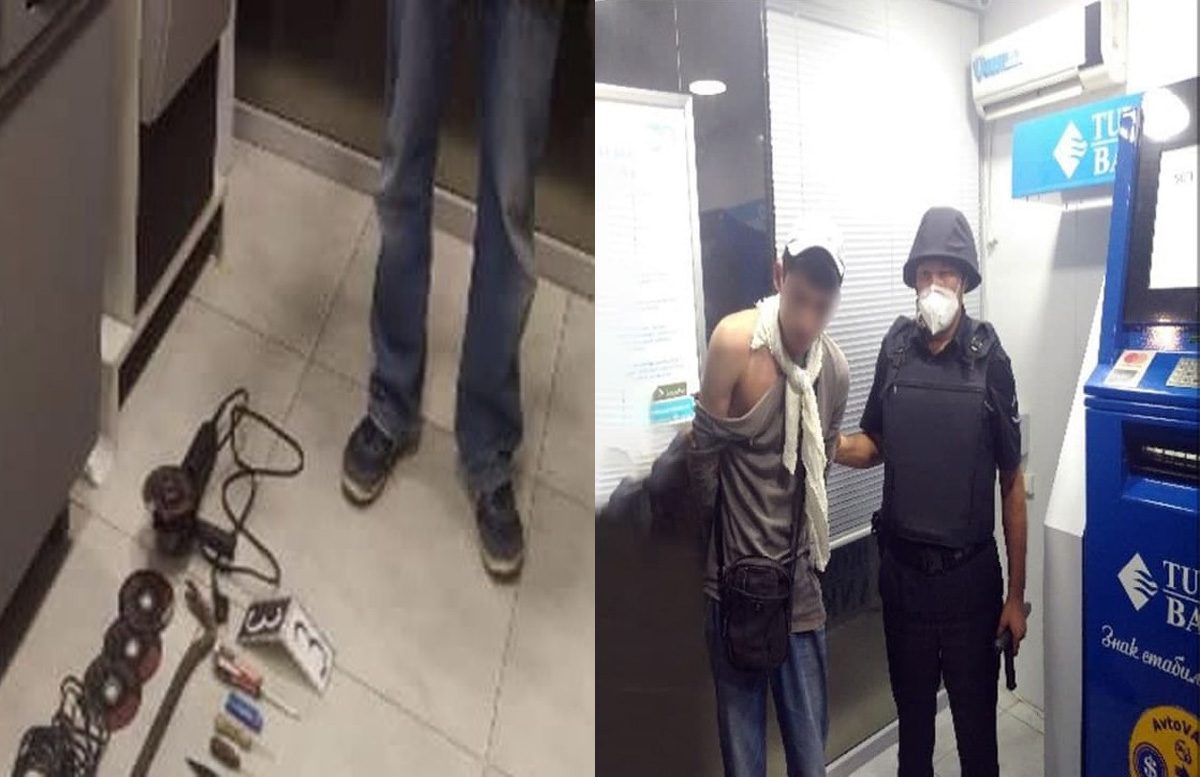 В Ташкенте задержали парня, пытавшегося вскрыть банкомат