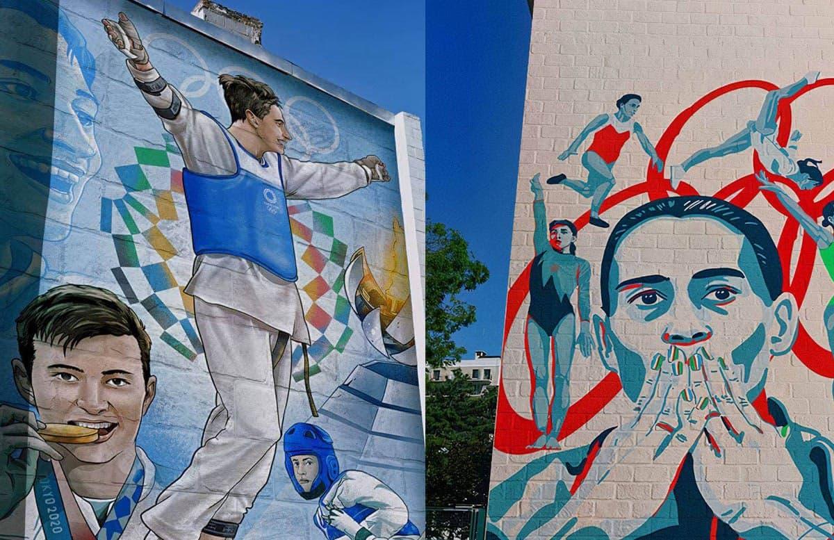 Столичные художники и иллюстраторы предложили запечатлеть олимпийцев Токио-2020 на многоэтажках