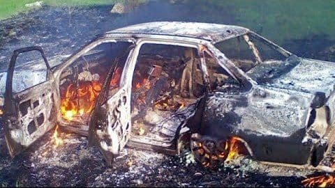В Джизаке водитель Nexia врезался в грузовик и сгорел заживо