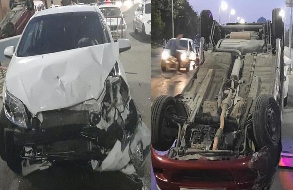 В столице автомобиль Nexia перевернул Matiz, за рулем которого была женщина