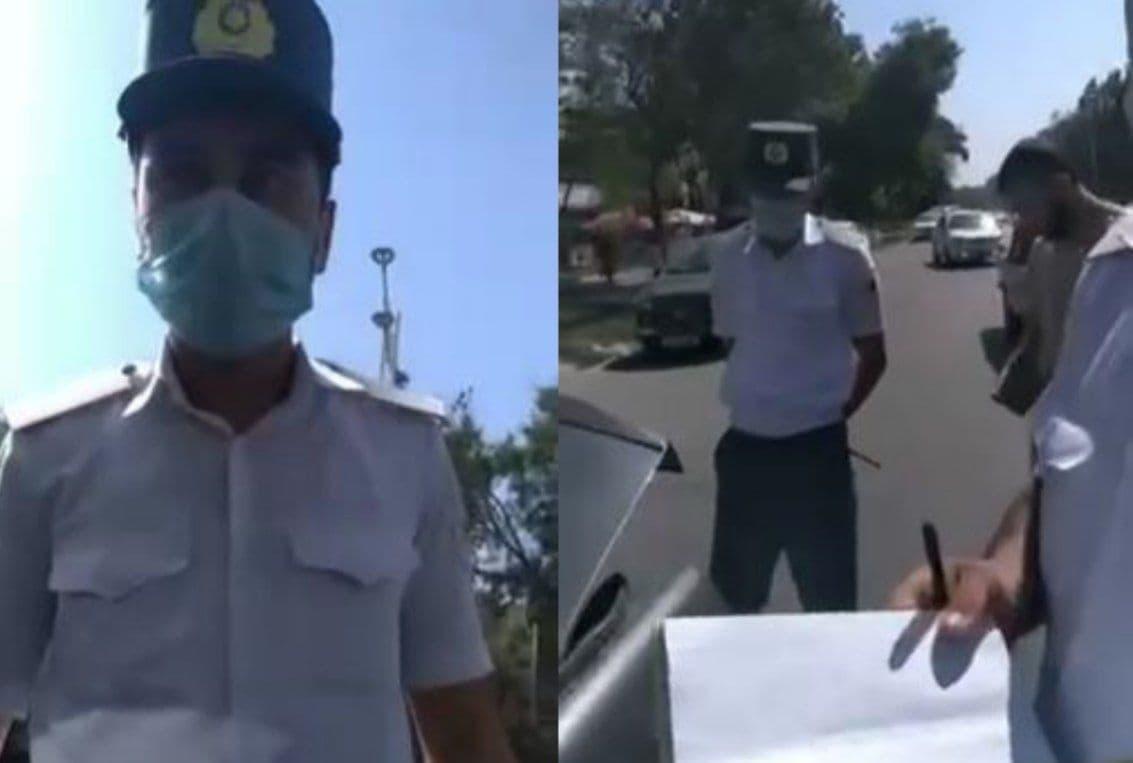 В Ташкенте водитель устроил скандал сотрудникам ГУВД — видео