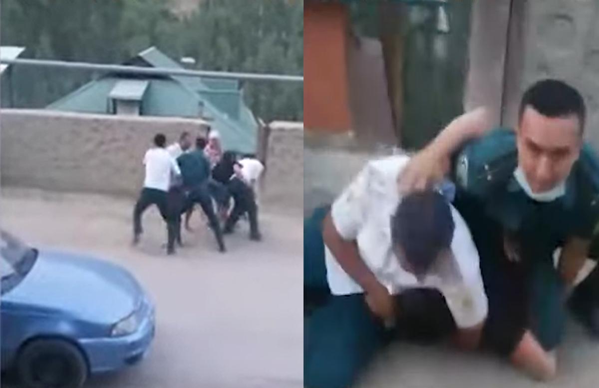 В Намангане сотрудники органов «заломали» парня и еще нескольких граждан — видео