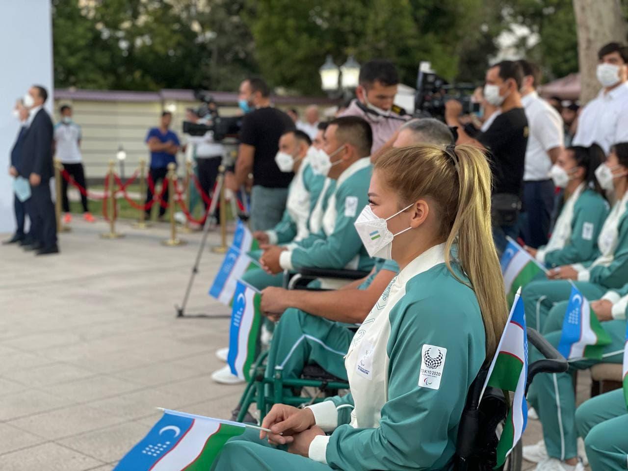Паралимпийцев Узбекистана торжественно проводили на игры в Токио