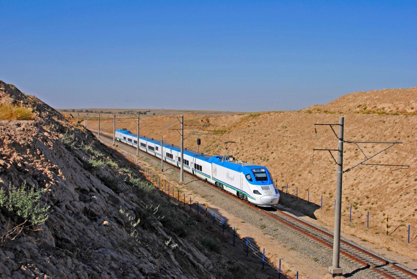 В Узбекистане запустят дополнительные поезда Afrosiyob