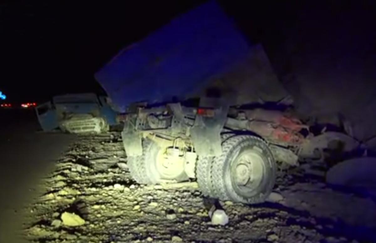 В Джизаке перевернулся грузовик: есть пострадавшие