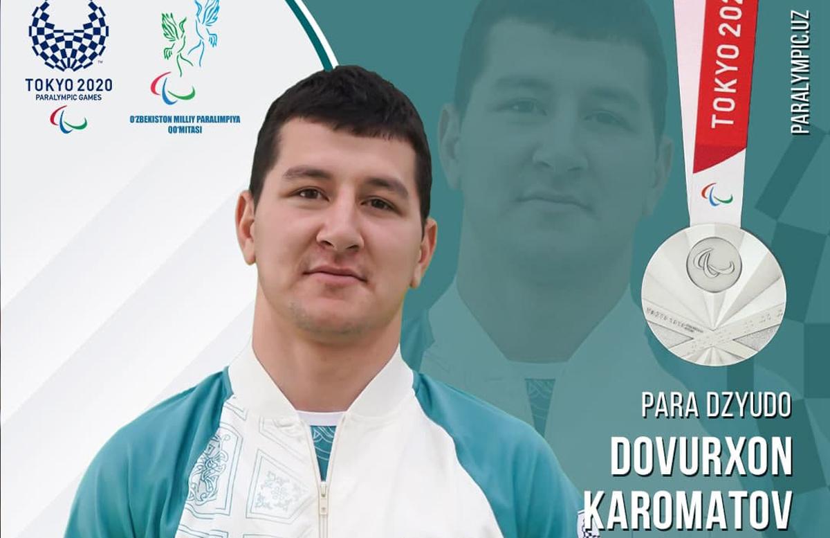 Пара-дзюдоист Довурхан Кароматов стал серебряным Паралимпийским призером