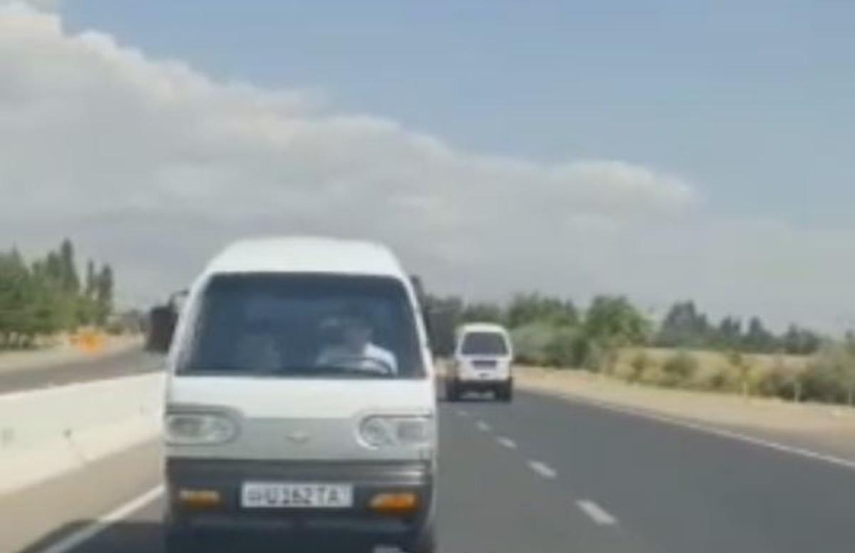 В Ташкентской области Damas передвигался задним ходом, совершая различные опасные маневры — видео