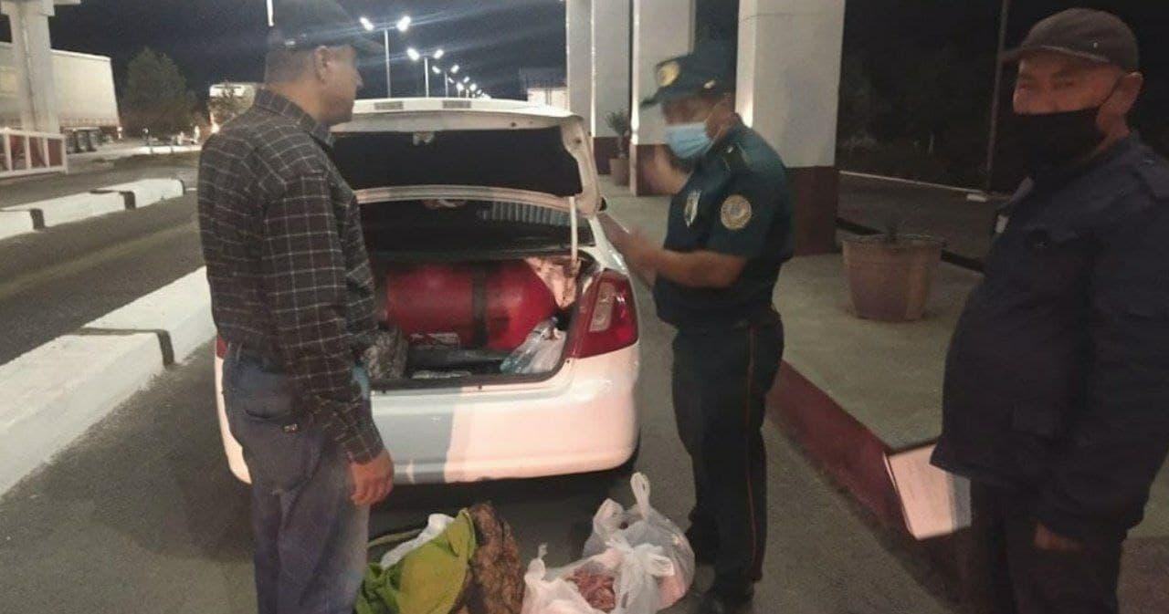В Кашкадарье задержан водитель Lacetti, перевозивший 200 кг мяса неизвестного происхождения