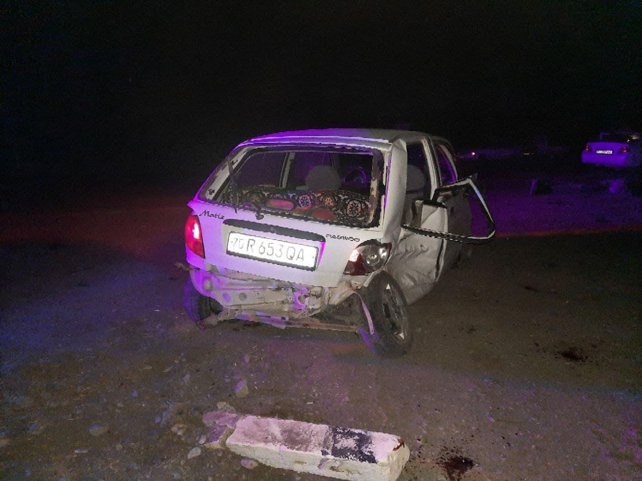 В Кашкадарьинской области столкнулись две легковушки