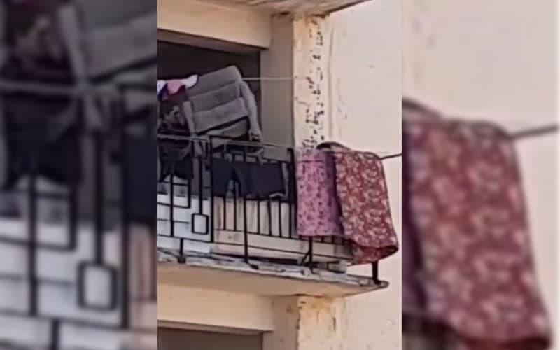 В Ташкенте пьяная женщина сбросила кресло с девятого этажа