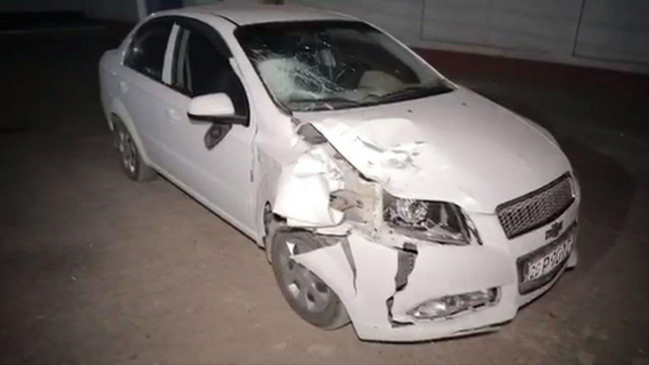 В Cырдарье водитель Nexia-3 сбил пешехода — видео