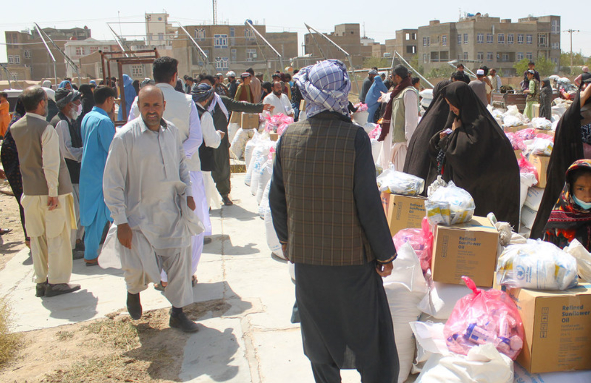 В Термезе открыли главный логистический центр помощи Афганистану