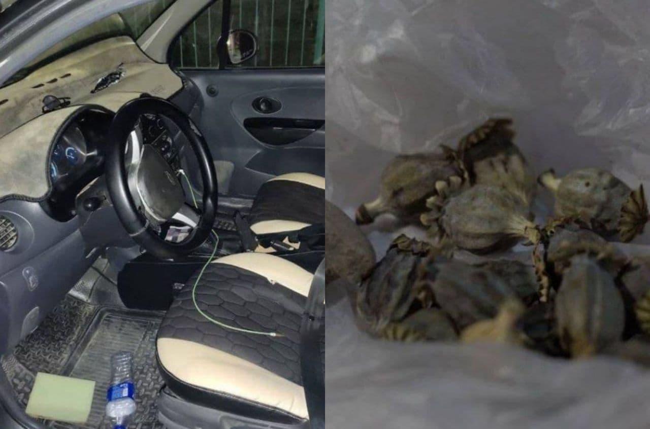 В Бухаре попался мужчина с маковой соломой в машине