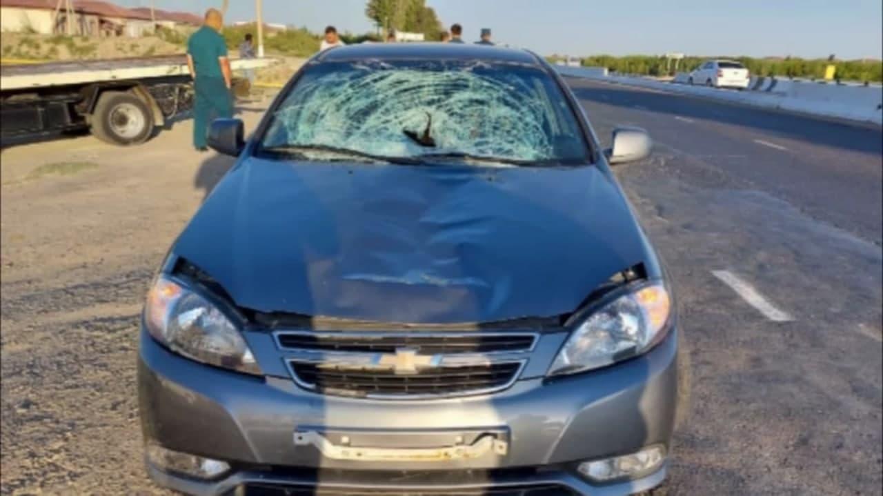 В Бухаре автомобиль Lacetti сбил пешехода