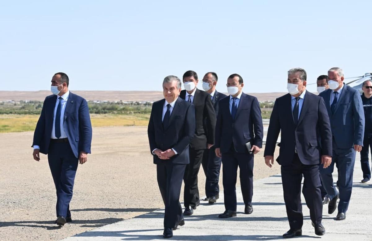 Шавкат Миризёев прибыл в Хорезмскую область