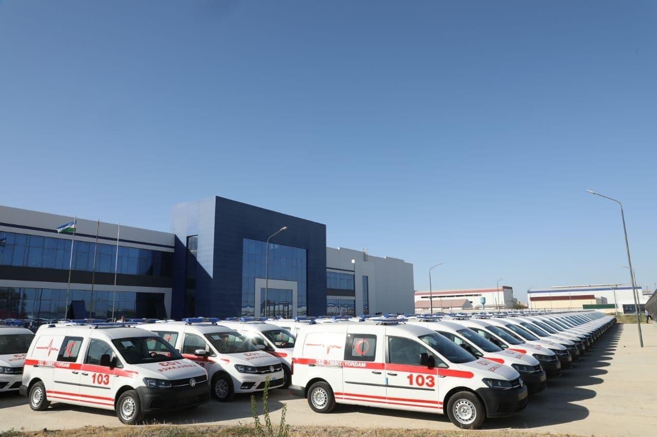 В медучреждения Узбекистана поступят новые автомобили скорой помощи