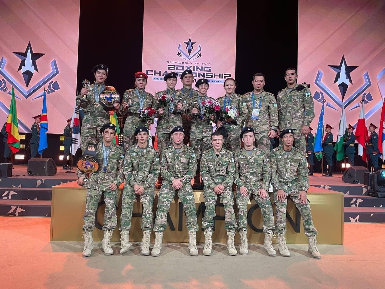 Военные боксёры Узбекистана заняли второе место на Чемпионате мира