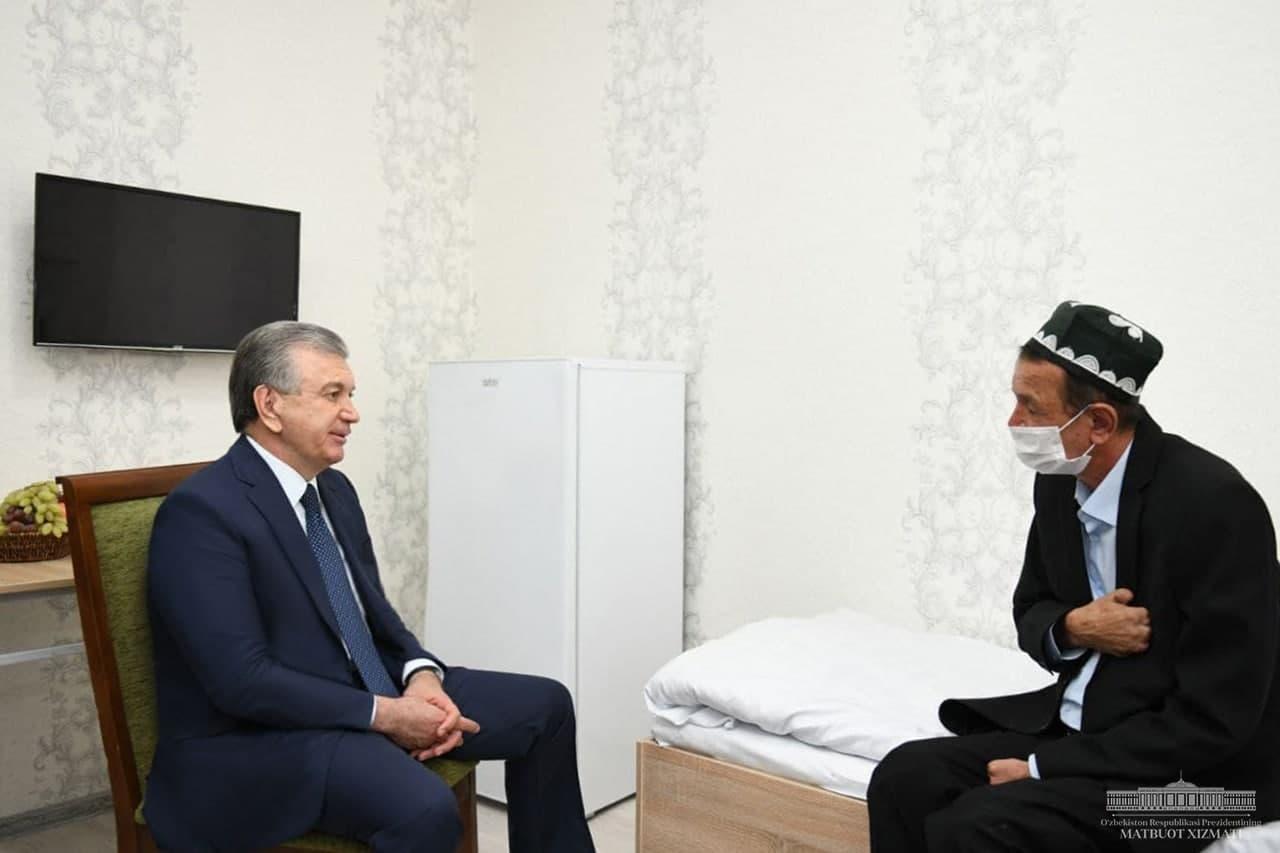 Президент посетил дом «Саховат» в городе Намангане.