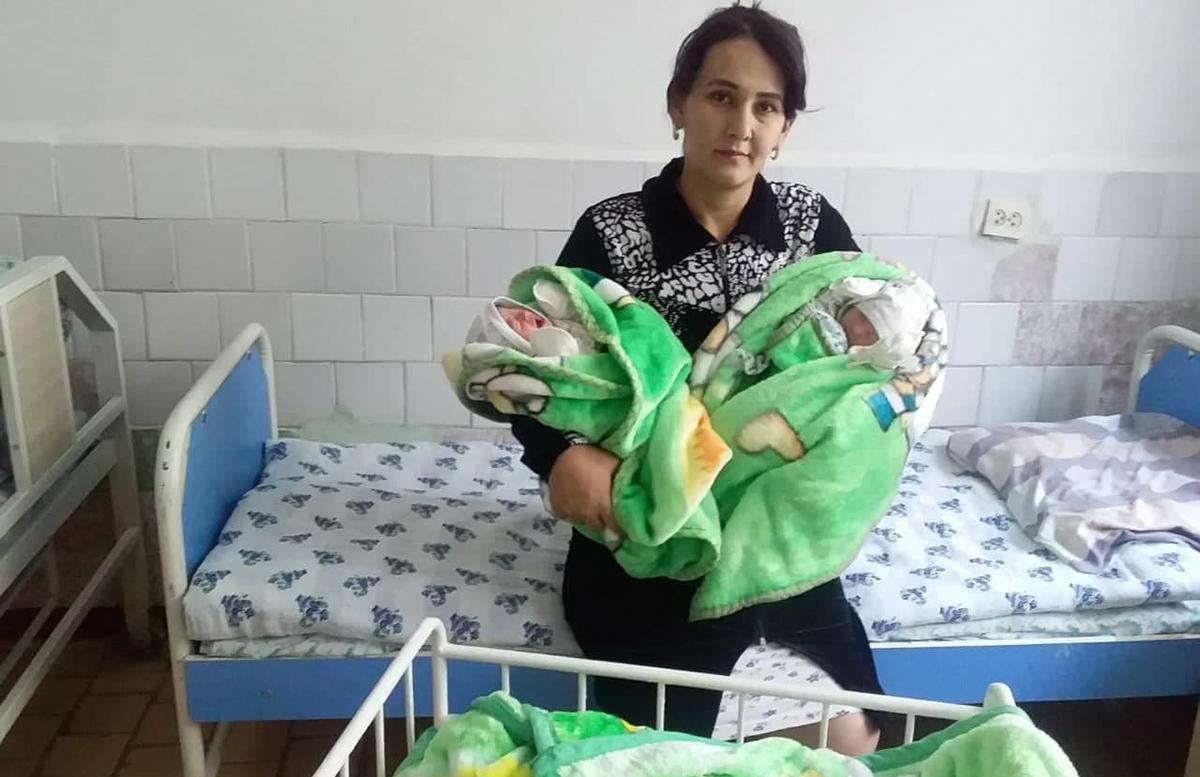 В Кашкадарьинской области родилась тройня