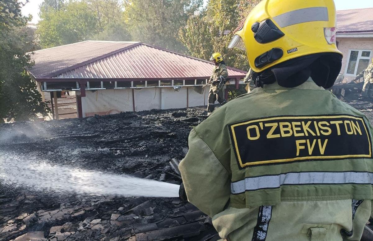 В одном из детских садов Самарканда произошел пожар