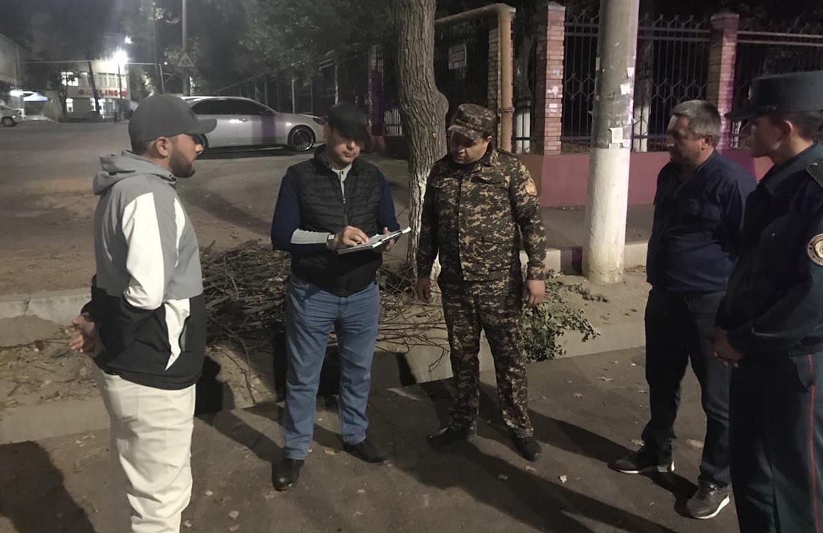 В Ташкентском городском управлении экологии прокомментировали вырубку деревьев у здания прокуратуры