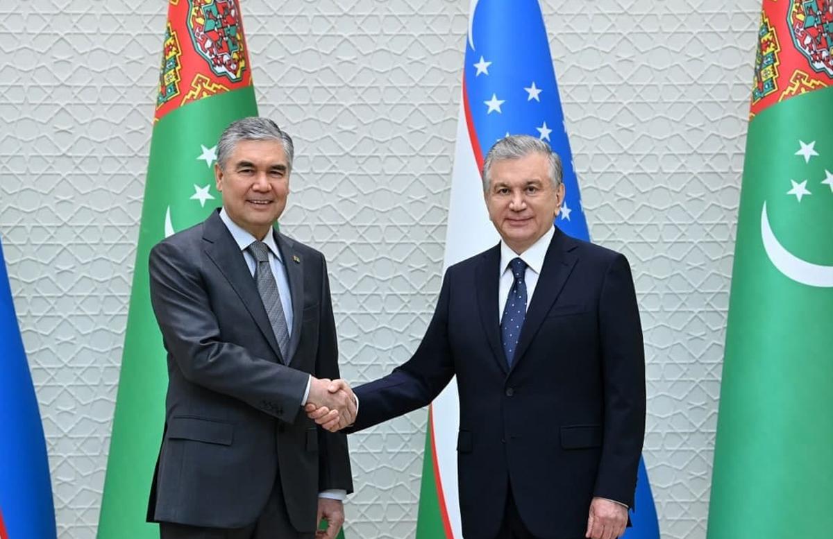 Главы Узбекистана и Туркменистана обсудили вопросы укрепления стратегического партнерства
