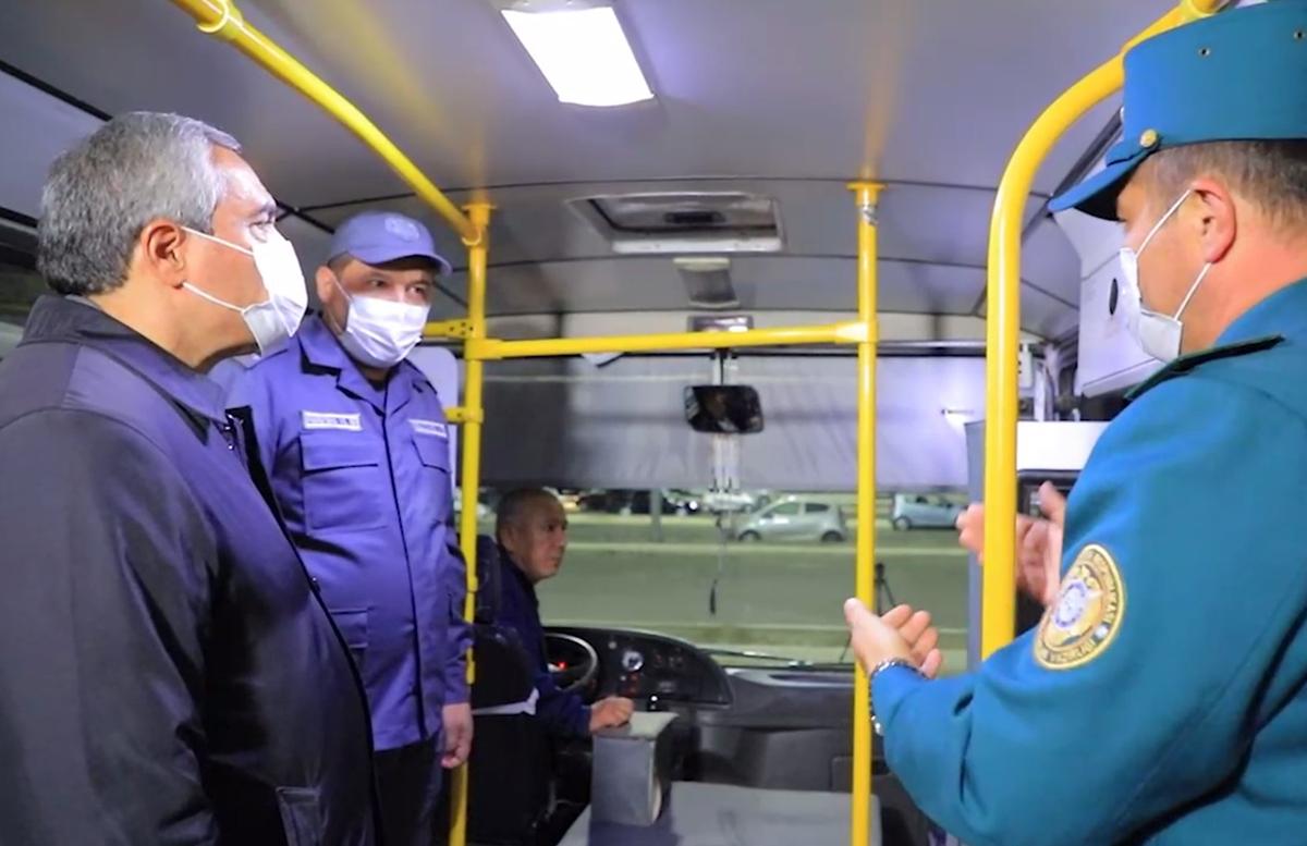 В одном из городов Узбекистана началась установка камер в автобусах